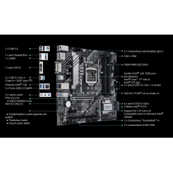 SILENCIO S400-H570-i3-10105 - carte mère - connectique